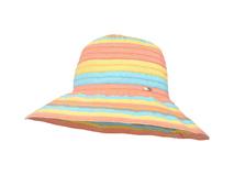凯维帽业-女士春夏大檐撞色拼接条纹户外遮阳渔夫帽 专业订做-YM112