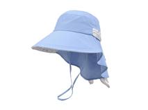 凯维帽业-小清新款蓝色碎花拼接护颈女士夏季渔夫帽 户外遮阳帽-YT113