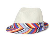 凯维帽业-条纹印花草编定型帽OEM加工出口订做 夏季 2015新款-CZ097