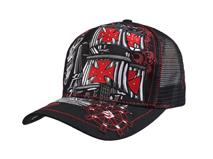 凯维帽业-OEM订做加工韩版夏季新款网布拼接透气时装棒球帽 -BM102