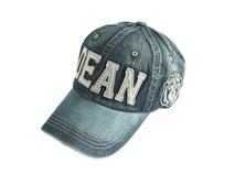 凯维帽业-韩版时尚贴布绣字母牛仔六页棒球帽ODM贴牌出口定做-BM103