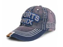 黑白视频体育直播-广东广州帽厂订做加工韩版牛仔3D绣花字母六页棒球帽 -BM107