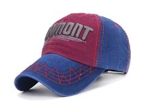 凯维帽业-时尚潮流缝线绣花字母撞色拼接六页帽订制定做 春夏 -BM111