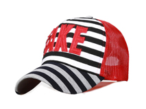 凯维帽业-条纹贴布绣花字母春夏透气棒球帽定做定制 21年制帽经验-BM113
