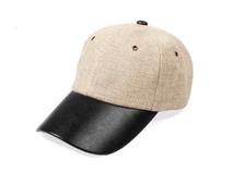凯维帽业-简约皮革拼接六页帽 棒球帽 外贸出口订做订制 男女款-BM118