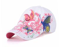 凯维帽业-时装款复古刺绣绣花时装棒球帽工厂加工订制 女士 春夏-BM119