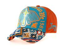 凯维帽业-撞色拼接贴布绣花新款儿童 女士五页棒球帽外贸加工 -BM127