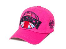 黑白视频体育直播-桃红色3D绣花字母LOGO六页棒球帽工厂定制加工-BM134