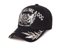 凯维帽业-黑色高端刺绣绣花字母LOGO棒球帽 春夏遮阳帽加工 -BM137