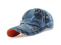 凯维帽业-新款韩版时尚潮流骷髅头印花洗水做旧六页棒球帽 -BM140