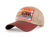 凯维帽业-2015夏季新款撞色拼接贴布绣花五页时装棒球帽加工-BM141