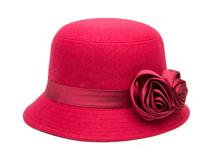 凯维帽业-女士丝带玫瑰花朵简约纯色秋冬保暖渔夫帽 工厂加工 -YW125
