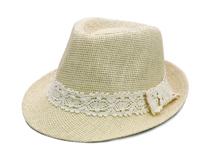 黑白视频体育直播-春夏纯色透气蕾丝丝带遮阳定型草帽OEM加工 新款 -CZ099