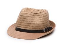 凯维帽业-欧美风高端草编定型礼帽 皮带 外贸OEM出口专业加工-CZ100