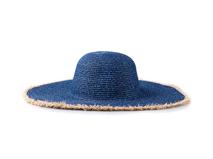 凯维帽业-女士田园风磨边做旧大边夏季户外沙滩遮阳草帽加工 -CZ102
