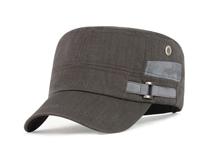 凯维帽业-男女款高端纯色简约夏季平顶帽 军帽 ODM订做加工-JM053