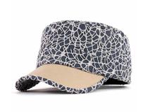 凯维帽业-设计款拼色复古平顶时装军帽 夏季 外贸出口订制加工 -JM054