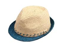 凯维帽业-新款撞色拼接定型草帽 夏季户外遮阳 欧美风 广州帽厂 -CZ110