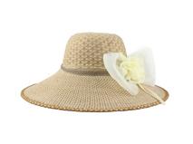 凯维帽业-2015夏季新款装饰花朵女士遮阳草帽 21年制帽经验-CZ113