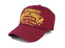 凯维帽业-红色绣花字母简约六页棒球帽ODM贴牌出口专业订做 -BM155