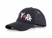 凯维帽业-黑色高端简约绣花六页棒球帽外贸专业生产出口订制 -BM163