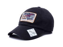 凯维帽业-黑色棒球帽出口订做加工 贴布绣花 12年诚信通 广州帽厂 -BM166
