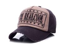 凯维帽业-复古洗水做旧绣花字母五页棒球帽ODM订制订做 -BM167