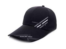凯维帽业-黑色印花简约运动棒球帽工厂专业生产加工定制 男女款-BM169