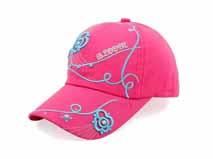 凯维帽业-帽厂专业定做女士桃红色绣花六页时装棒球帽 春夏新款-BM173