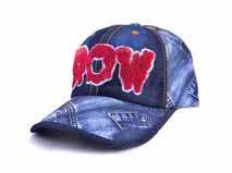 凯维帽业-外贸出口订做牛仔时装六页棒球帽 2015新款 毛巾绣-BM176