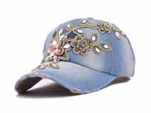 凯维帽业-韩版六页时装牛仔棒球帽 镶钻 复古洗水做旧 12年诚信通 -BM180