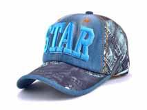 凯维帽业-2015新款牛仔3D绣花六页棒球帽贴牌定做 韩版 春夏 -BM181