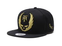 凯维帽业-黑色外星人绣花平沿嘻哈街舞帽工厂专业加工定做定制-PJ087