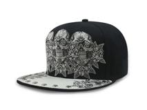 凯维帽业-高端骷髅头绣花平沿嘻哈街舞帽 夏季 21年制帽经验 -PJ099