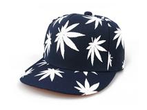 凯维帽业-外贸贴牌OEM订做加工高端枫叶平板帽 春夏 广州帽厂 -PJ113