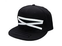 凯维帽业-黑色简约3D绣花嘻哈平额街舞帽 广东广州工厂加工 -PJ125