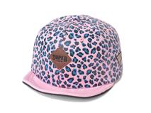 凯维帽业-豹纹短帽舌女士2015新款春夏平板六页棒球帽 定制-PP093