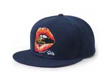 凯维帽业-纯色新款红唇香烟嘻哈帽 春夏平沿街舞帽生产加工-PJ139