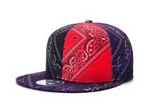 凯维帽业-新款民族风撞色拼接复古印花平沿嘻哈街舞帽 广州帽厂-PJ167