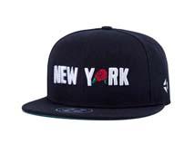凯维帽业-黑色简约棒球帽订做加工 3D绣花字母 玫瑰花 平板帽 -PJ176