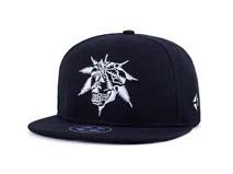 凯维帽业-工厂专业贴牌定做黑色简约绣花平沿棒球帽 男女款 春夏 -PJ177