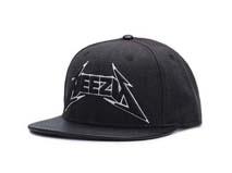 凯维帽业-黑色3D绣花字母高端简约户外遮阳嘻哈街舞平板帽-PM136