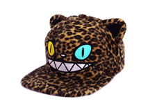 凯维帽业-新款豹纹绣花卡通遮阳平板嘻哈帽 外贸OEM出口订制 -PH189