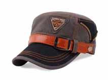 凯维帽业 广州帽子工厂加工贴牌定制新款撞色拼接皮带平顶军帽-JM064