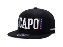 凯维帽业-外贸贴牌订制3D绣花黑色高端嘻哈遮阳平板帽 广州 -PM170