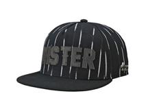 凯维帽业-黑白色条纹贴布绣花平板街舞嘻哈帽  广州工厂加工生产-PM193