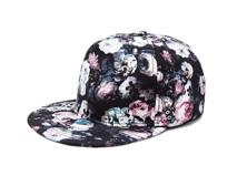 凯维帽业-复古印花时装平板嘻哈帽 街舞帽OEM贴牌订制加工-PM201