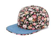 凯维帽业-新款印花花朵时装平沿嘻哈帽 春夏遮阳 韩版订制加工-PM206