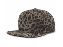 凯维帽业-外贸OEM出口订做加工高端豹纹印花时装平板帽 贴牌-PT111
