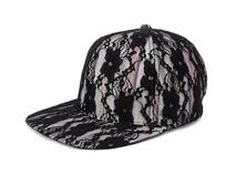 凯维帽业-新款蕾丝拼接春夏时装嘻哈平板街舞帽 韩版 广州帽厂 -PT200